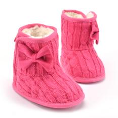 Spesifikasi Bayi Perempuan Sepatu Bot Salju Musim Dingin With Ikatan Simpul Naik Merah Bagus