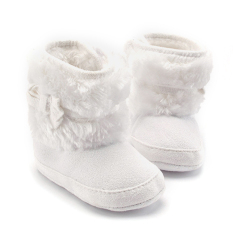 Bayi Perempuan Sepatu Bot Salju Musim Dingin With Ikatan Simpul Putih Di Tiongkok