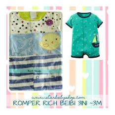 Cuci Gudang Baby Grow Rich Beibi Romper 3In1 Boys 3M