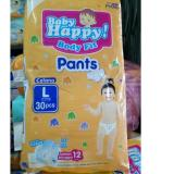 Promo Baby Happy Body Fit Pants Popok Anak Dan Bayi Size L 30 Pcs Murah