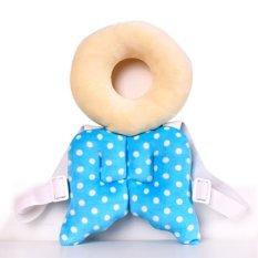 Harga Bayi Kepala Perlindungan Pad Balita Headrest Bantal Leher Bayi Cute Sayap Nursing Drop Resistance Cushion Biru Oem