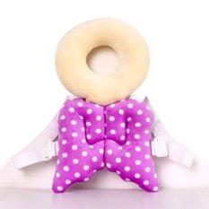 Beli Bayi Kepala Perlindungan Pad Balita Headrest Bantal Leher Bayi Cute Wings Nursing Drop Perlawanan Cushion Ungu Murah
