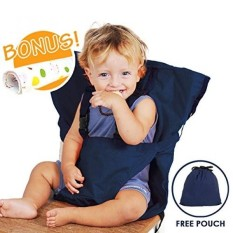 Kursi Tinggi Bayi Memanfaatkan Portabel Perjalanan Sabuk Pengaman Booster Feeding Kursi Tinggi Kursi Sarung Sack Bantalan Tas untuk Balita Bayi Balita aman dengan Tali Pengikat Termasuk Tangan Wash Kain Gelap Biru-Internasional