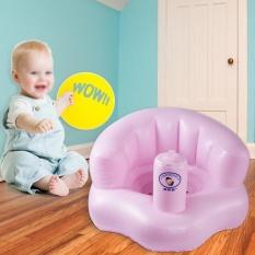 Bayi Inflatable PVC Sofa Belajar Stool Training Seat Portable Kids Bath Kursi Makan-Intl