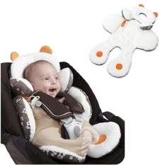 Baby Infant Safety Car Seat Stroller Putih Soft Cushion Pad Liner Mat Kepala Leher Body Support