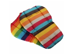 Bayi Bayi Kursi Bantalmobil Bantal Dudukan Bantalan Kapas Warna Pelangi Soft Tebal Pram Cushion Kursi BB Car Seat Cushion- INTL
