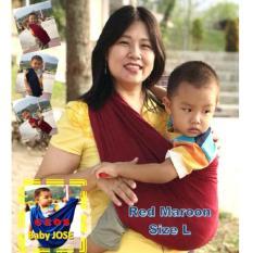 Jual Geos Baby Jose Premium Gendongan Size L Maroon Gendongan Bayi Selendang Bayi Perlengkapan Bayi Rame Baru