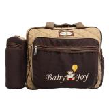 Harga Baby Joy Tas Bayi Besar Saku Bordir Tempat Botol Susu Double Cokelat Baby Joy Asli