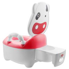 Kartun Anak-anak Bayi Sapi Plastik Desain Toilet Kursi Toilet For Pelatihan Pelatih 1 Yg 5 Tahun Tua Bayi Berwarna Merah Muda-Internasional