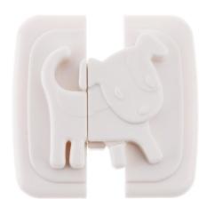 Baby Kids Kartun Puppy Keselamatan Kunci Kabinet Kulkas Kunci Pintu Kabinet (Putih)-Intl