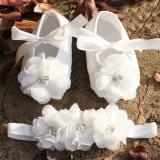 Jual Bayi Anak Gadis Penari Balet Sepatu Bot Sepatu Bando Set Berlian Imitasi Baru