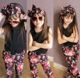 Baju Bayi Anak Perempuan Bando T Shirt Celana Bunga 3 Buah Set Pakaian Murah