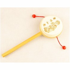 Baby Kids Wooden Rattle Toys Drum Percussion Musical Toys - intl