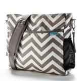 Beli Baby K Tan Diaper Bag Grey Chevron Baby K Tan Murah
