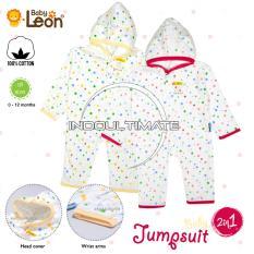 Pakaian Bayi 2 in 1 Baby Leon / Baju Bayi Full Body Katun NEW BORN 100% catton Jumper / Baju Tidur anak / Baju tidur bayi / Body suit BC-021 / Kaki Buka RANDOM MOTIF