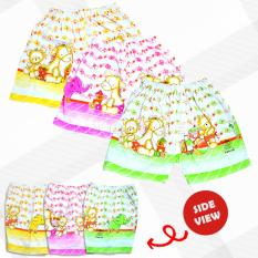 Baby Leon Celana Pendek Bayi 1 SET 3pcs Lucu/ALLSIZE/Umur 6-18 Bulan/UNISEX/Child Short Pants Cotton CLB-33 -  RANDOM MOTIF