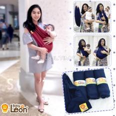 BABY LEON Gendongan Bayi Kaos/Geos/selendang Bayi Praktis BY 44 GB Polos Ukuran S - Maroon