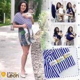 Beli Baby Leon Gendongan Bayi Kaos Geos Selendang Bayi Praktis By 44 Gb Salur Ukuran L Salur Blue Baby Leon