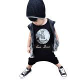 Surat Pencetakan Baju Monyet Baju Bayi Set Hitam Internasional Tiongkok Diskon