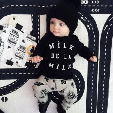 Harga Baby Lily Boys Balita Bayi Bayi Newborn Surat Kasual Set T Shirt Celana Terbaik