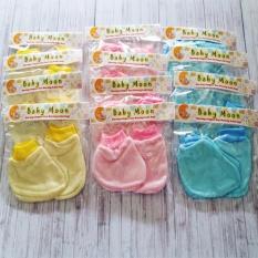 baby moon 24set / 2lusin sarung tangan bayi 3warna