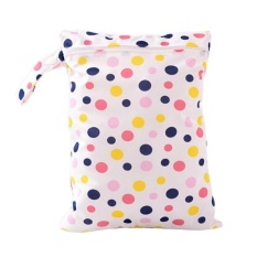 Baby Nappy Waterproof Reusable Washable Wet Dry Cloth Zip Diaper Swimmer Bag Pink - intl