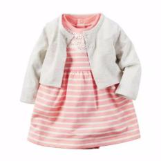 Review Baby Of Mine Dress Jumper Baby Peach Stripes And Cardigan Baby Of Mine