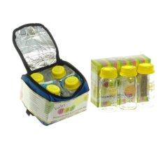 Jual Baby Pax Bundling Cooler Bag Set Biru Tas Penyimpan Asi 4 Botol Kaca Asi 3 Ice Gel 3 Botol Kaca Asi Di Jawa Timur