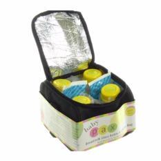 Baby Pax - Cooler Bag Set (Tas Penyimpan ASI + 4 Botol Kaca ASI + 3 Ice Gel) - Tas Travelling Tas Ibu Menyusui Tas Penyimpanan MPASI Tas Lucu Cooler Bag Baby Tas Ibu & Anak - Tas Berpergian Tas Unik Tas Best Seller Tas Pendingin Baby Organizer