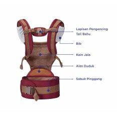 Baby Safe Baby Carrier Hip Seat Gendongan Bayi Anak Ortopedik Merah Baby Safe Diskon 40