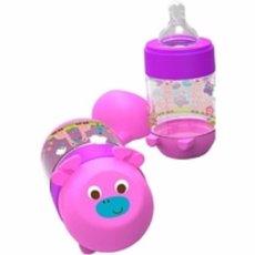 Baby Safe Feeding Bottle / Botol Susu 125 ml Motif Jerapah - Ungu