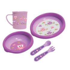 Diskon Produk Baby Safe Feeding Set 5 Pcs Fs500 Motif Owl Peralatan Makan Bayi