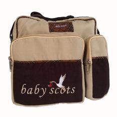 Jual Baby Scots Embroidery Medium Bag Ismb015 Brown Tas Perlengkapan Bayi Coklat Baby Scots Branded