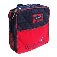 Diskon Baby Scots Embroidery Simple Bag Isesb012 Biru Tas Perlengkapan Bayi Branded