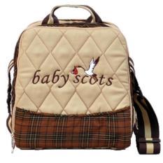 Baby Scots Keep Warm Embroidery Bag Coklat ISEDB019 - Tas Perlengkapan Bayi