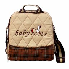 Jual Baby Scots Keep Warm Embroidery Bag Coklat Isedb019 Tas Perlengkapan Bayi Online