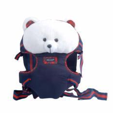 Baby Scots  Stuffed Animal Baby Carrier ISG004 Putih Dongker - Gendongan Baby Scots Depan Belakang