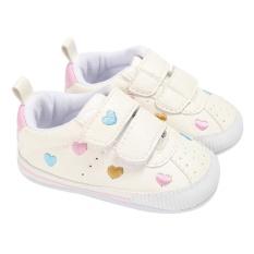 Baby Shoes Artifial Leather Heart Shape Pattern Rubber Baby Prewalker(Multicolor )-  6-  12 months  -   intl(Multicolor )