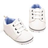 Pusat Jual Beli Soft Baby Sepatu Bersol Pu Kulit Anti Slip Sneaker Balita Prewalker Putih Inch 6 12 Bulan Tiongkok