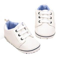 Soft Baby Sepatu Bersol Pu Kulit Anti Slip Sneaker Balita Prewalker Putih Inch 6 12 Bulan Promo Beli 1 Gratis 1