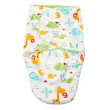 Harga Baby Short Plush Double Little Swaddle Green Animals Yang Bagus