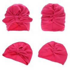 Topi Bayi Katun Soft Simpul Telinga Kelinci Topi Kupluk Merenggang-Internasional