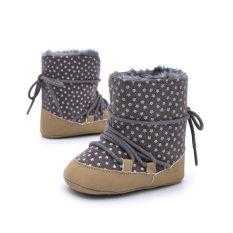 Spesifikasi Baby Stars Boots Hangat Prewalker Anti Slip Lembut Sole Sepatu Hitam Coklat Intl Terbaru