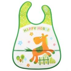 Baby Stereoscopic Pinafore Waterproof Overclothes Bib Feeding Bundana(Green) - intl