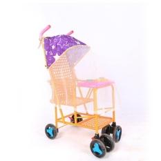 Baby Stroller Aksesoris Rotan Car Awning dengan Nyamuk Net UV Tabir Surya-Intl
