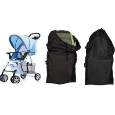 Baby Stroller Pram Travel Bag Baby Car Set (Black) - intl