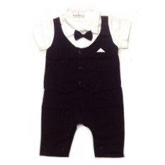 Harga Baby Talk Belle Maison Tuxedo Romper Hitam Baby Talk Baru