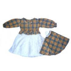 Baby Talk - Gamis Cubic Brokat Gamis Korea - Dress Muslim Ala Korea Untuk Bayi dan Anak - Dress Bayi Dress Muslim Dress Anak Baju Muslim Gamis Bayi