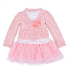 Baby Talk - Girly Cardigan Dress Pink - Dress Pesta Mutiara Cantik Untuk Anak