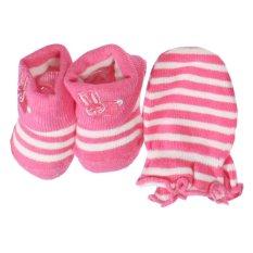 Baby Talk Mitten Baby Set - 1 Set Kaos Kaki + Sarung Tangan Untuk Bayi Kaos Kaki Lucu Untuk Bayi  Mix Motif Baby Girl